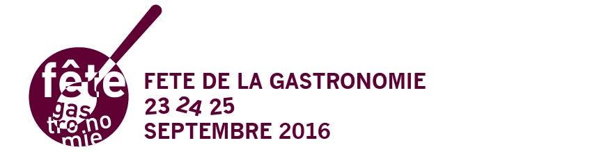 Logo 6ème édition de la Fête de la Gastronomie